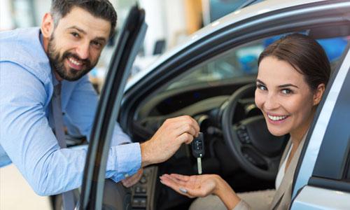 Receiving your rental car